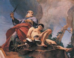 Giovanni Battista Tiepolo: The Sacrifice of Isaac (detail), 1726–1739 (Credit: Palazzo Patriarchale, Udine/De Agostini Picture Library/Bridgeman Art Library)