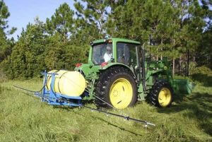 Applying glyphosate to clear grasses. (Credit: Flickr/MyFWC Research)