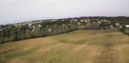AR Drone flying over corn field France