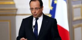 Francois Hollande gives a press conference at the Elysee Palace in Paris on Wednesday AFP