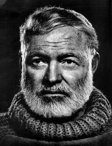 Hemingway portrait