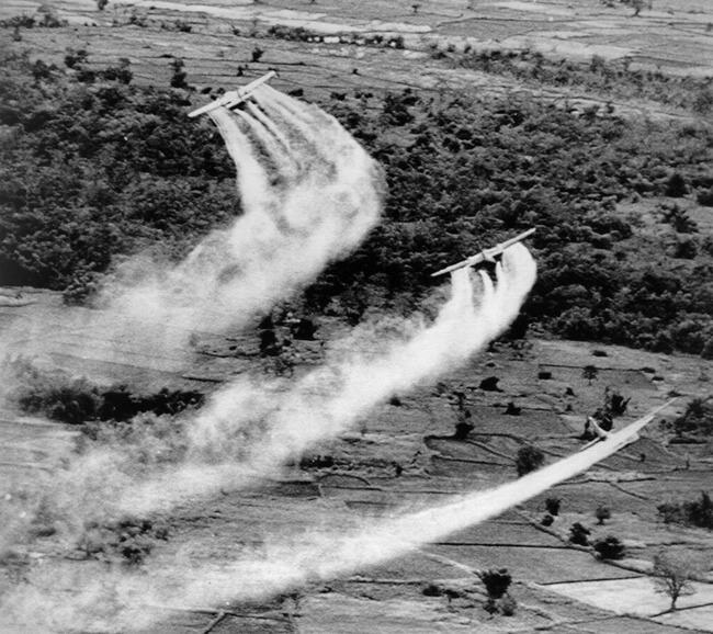 vietnam spraying chemicals ap photo