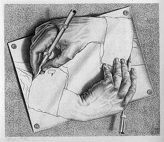 An MC Escher print