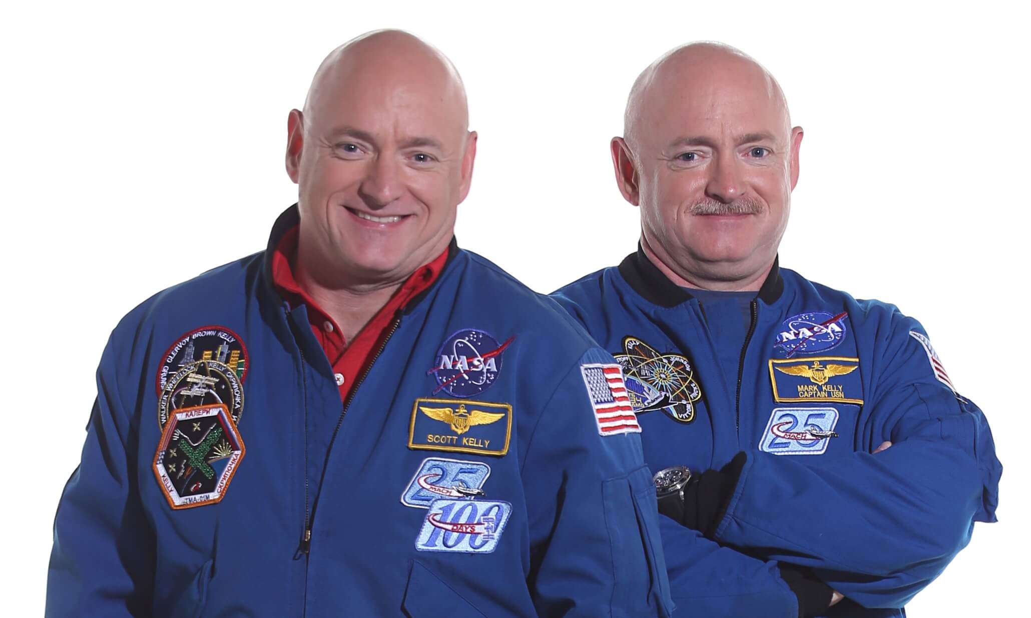 astronaut twins give nasa first glimpse at space 39 s effects on health dna genetic literacy project. Black Bedroom Furniture Sets. Home Design Ideas