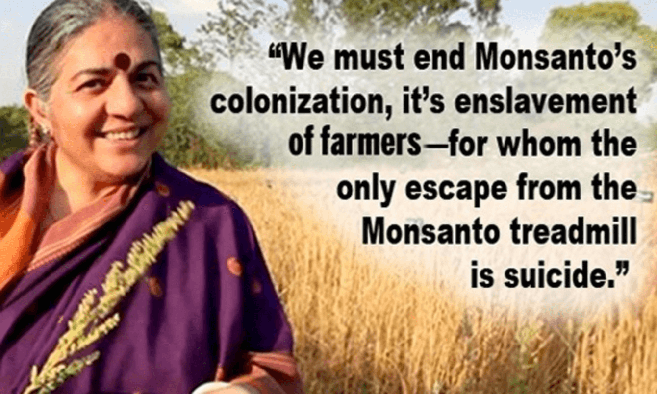 Vandana Shiva on Indian farmer suicide myth