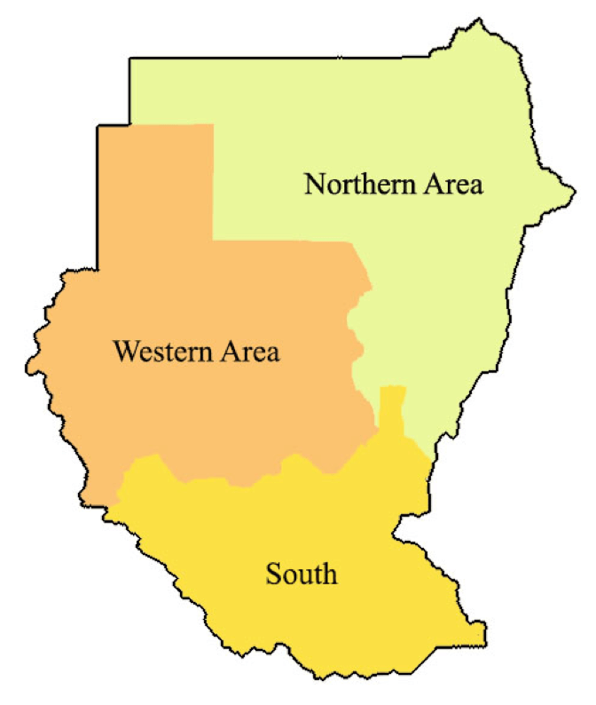 Figure 1 Map of Sudan