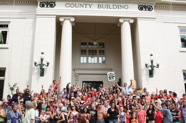 In 2013, anti-GMO supporters on Kauai celebrated a new law requiring more disclosure from biotech companies. The appeals court ruling affirms a court decision to strike down the ordinance.