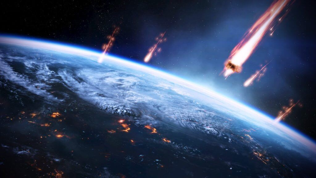 meteors space Earth Mass Effect
