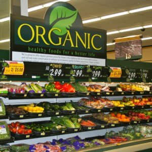 organic grocery food section