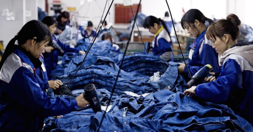 China jean manufacturing x