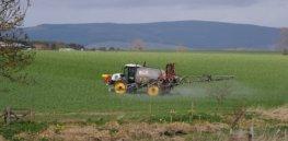 Fettercairn farm spraying crops