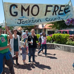 GMO free Jackson County banner