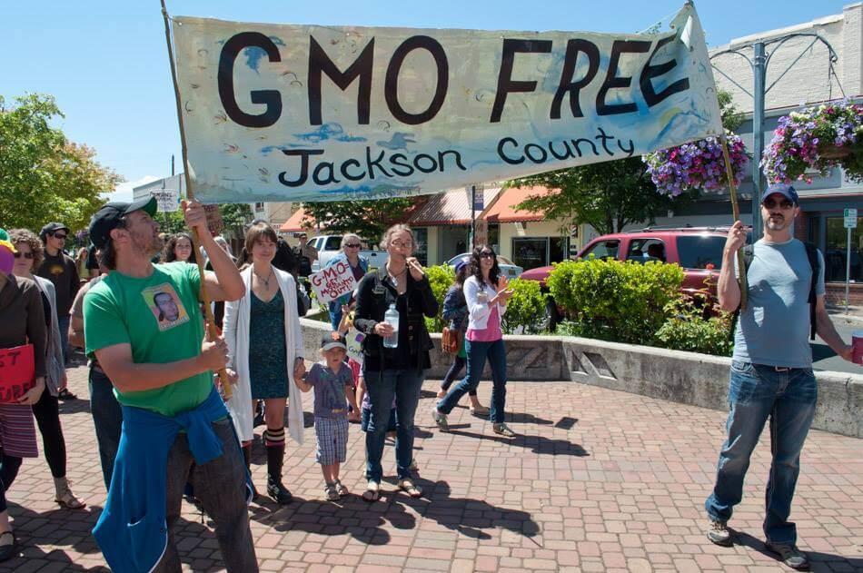 GMO free Jackson County banner