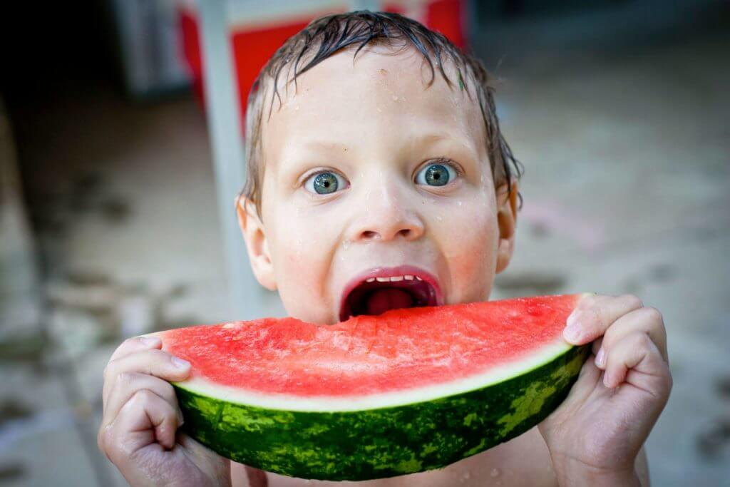 watermelon boy child