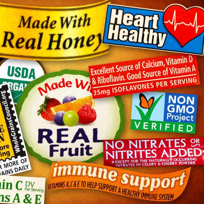 food label claims e