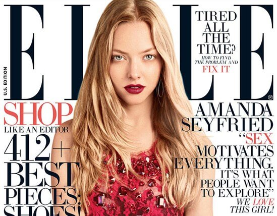 Amanda Seyfried ELLE Magazine August B e