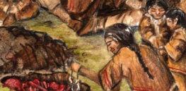 Beothuk burial scene detail e