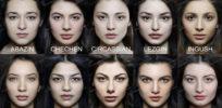 Caucasian faces