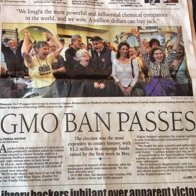 GMO ban oregon e