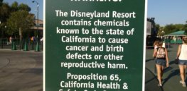 Warning sign Disneyland e