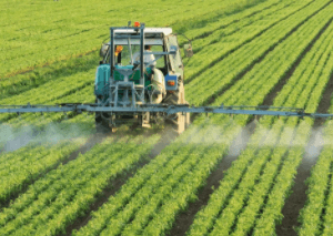 truck spraying pesticides
