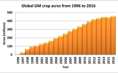 Global GM crop acres