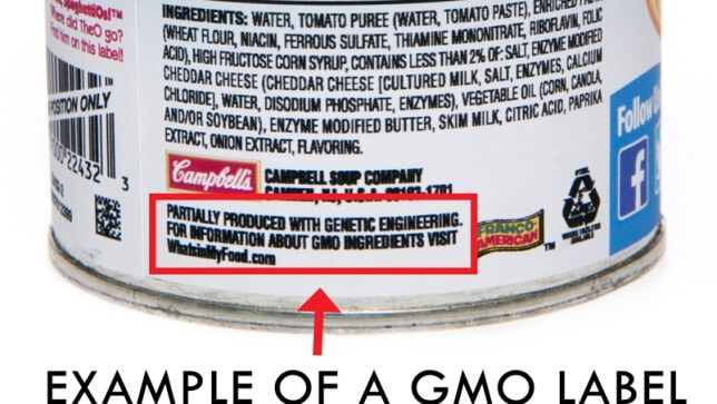 campbells gmo label x