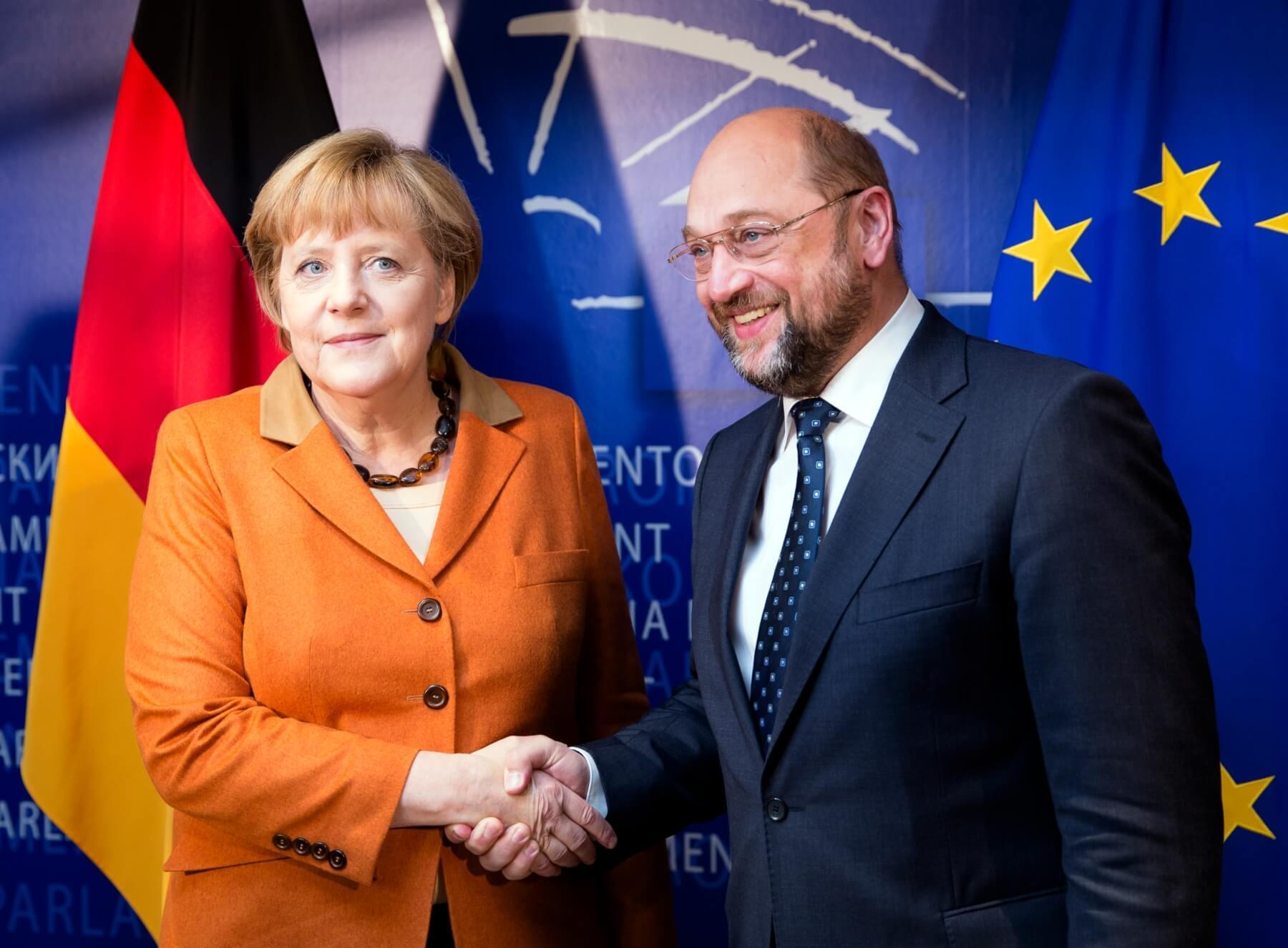 main source dpa Picture Alliance Thierry Monasse Martin Schulz chancellor Angela Merkel
