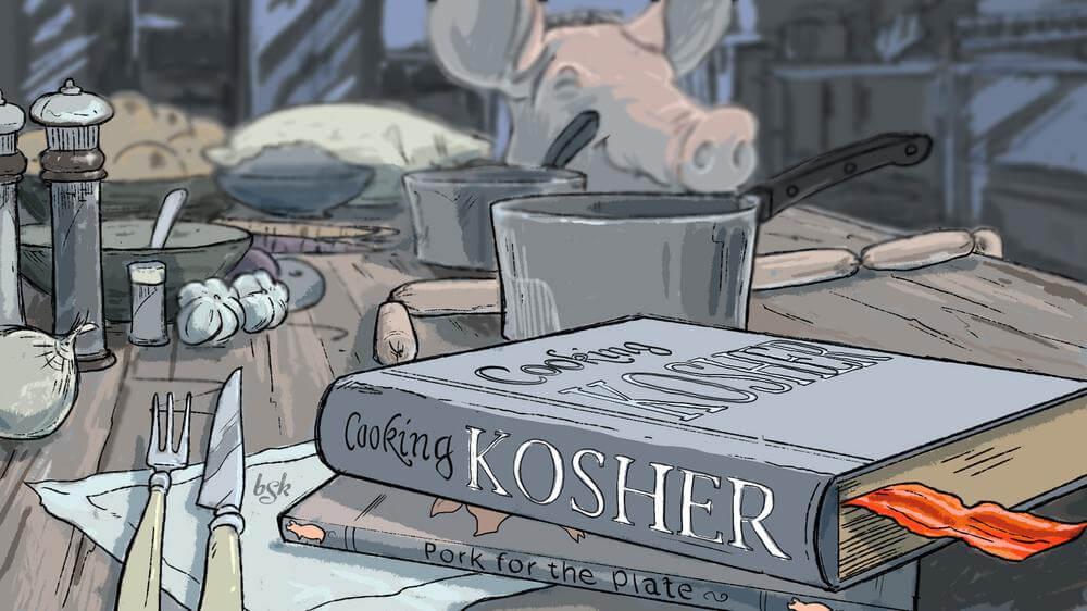 Kosher pork pig 332899