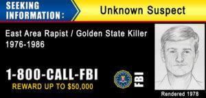 Original night stalker east area rapist golden state killer cold case artist rendering