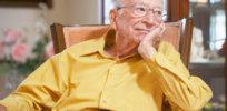 5-13-2018 Senior man relaxing in armchair
