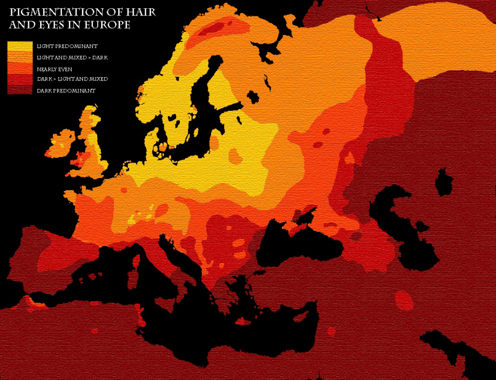 hair eyes pig map Map Europe