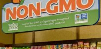 non gmo whole foods sign