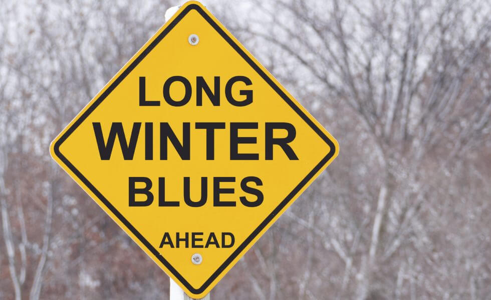 winter blues sign e x