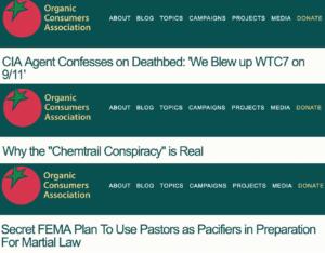 organic consumers conspiracy