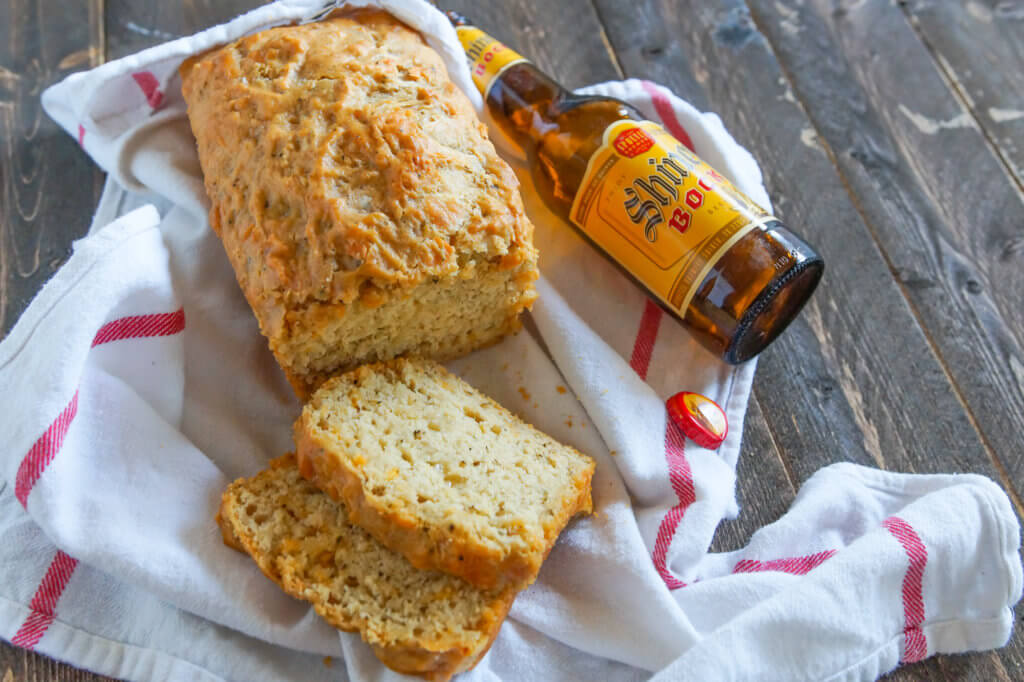 beer bread cheese bottle horz