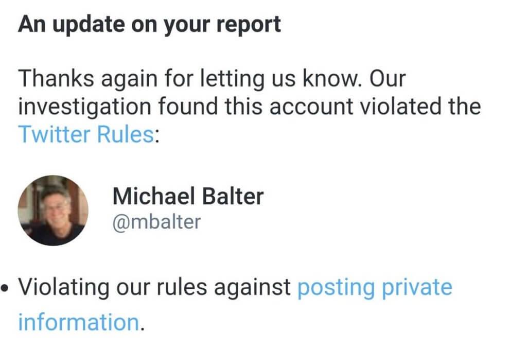 balter doxx twitter violation