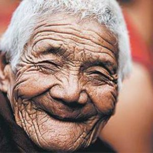 very old person smiling via twitter large