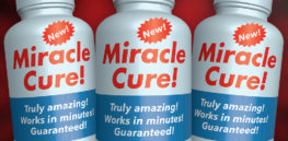 miracle cure false claims health fruad graphic x