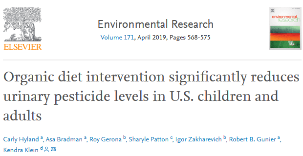 screenshot organic diet intervention significantly reduces urinary pesticide levels in u s children and adults
