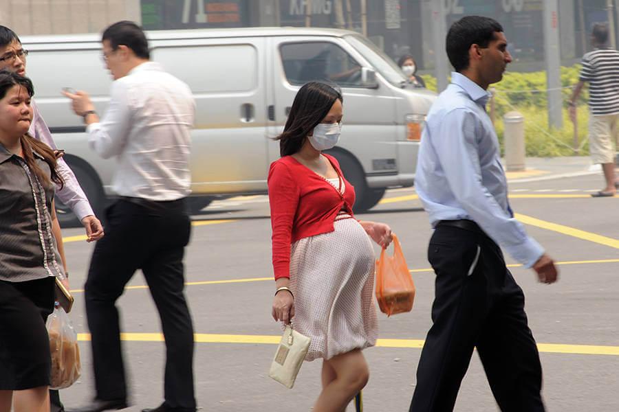 pregnancy pollution singapore roslan rahman afp getty