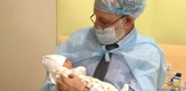 dr zukin with three parent baby born in kiev