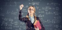 girl maths math writes problem shut