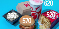 screenshot calories menu fast food at duckduckgo