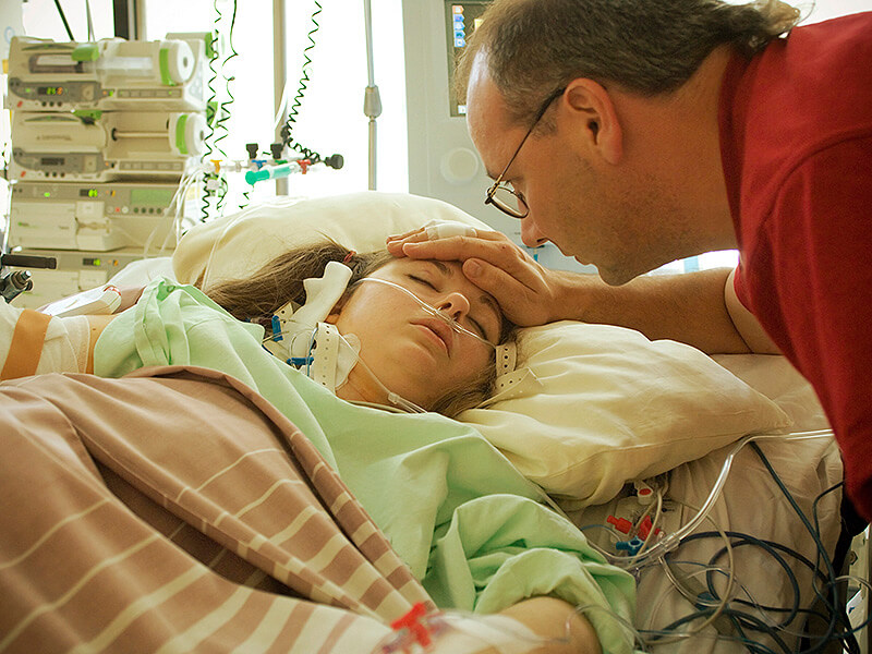 is persistent vegetative state patient icu x