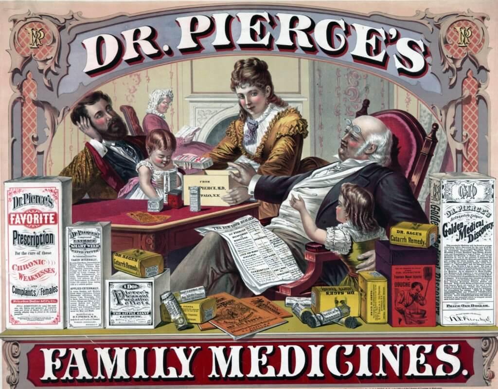 vintage advert for medicine