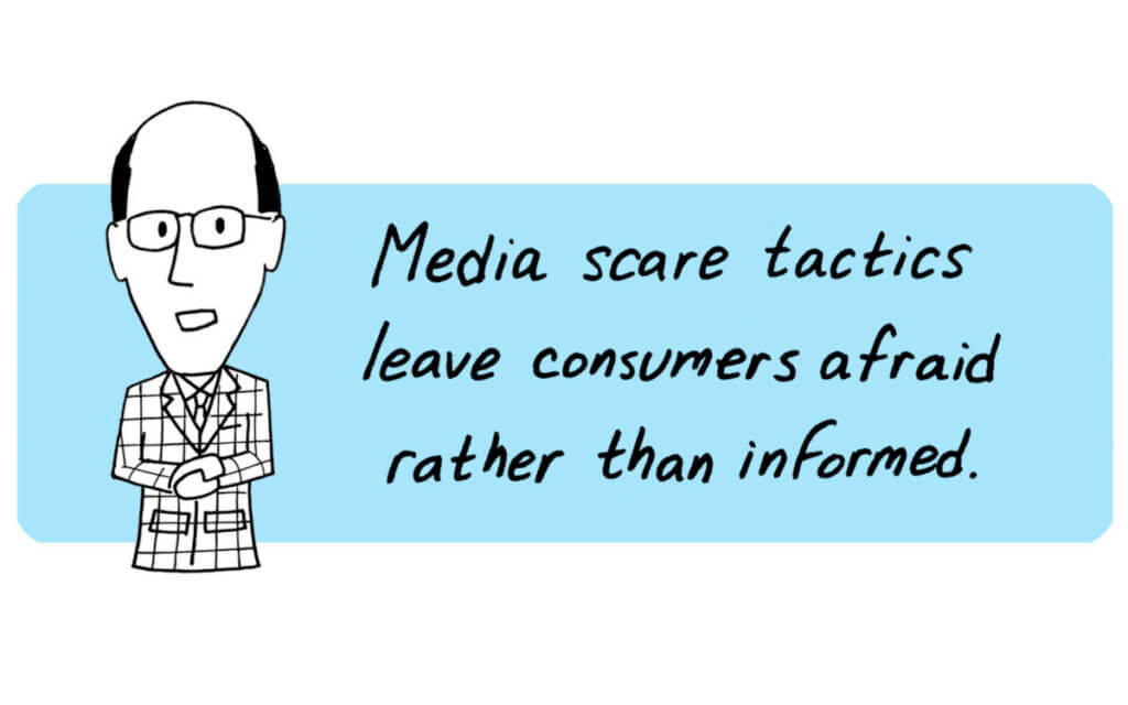 media scare quote x x