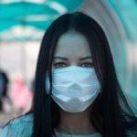 px covid coronavirus girl in mask