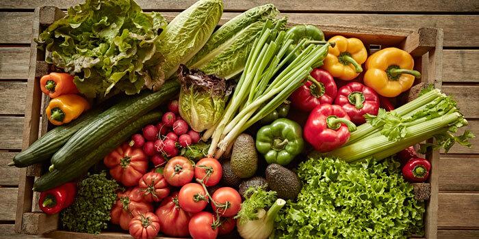 salad vegetable box