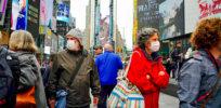 times square coronavirus masks
